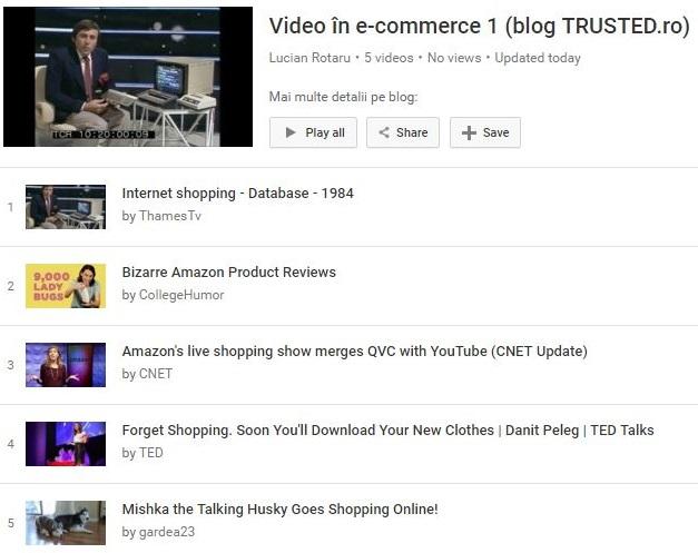 Video în e-commerce: prima plată online televizată din 1984, produse ciudate de pe Amazon, viitorul industriei fashion